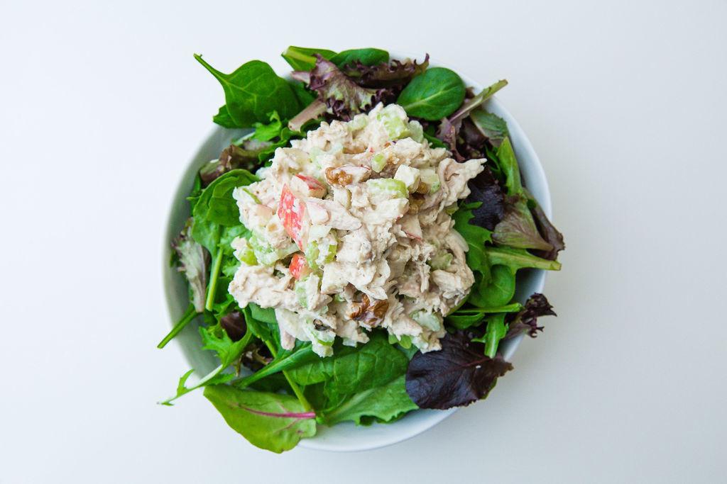 Chicken Salad Over Greens