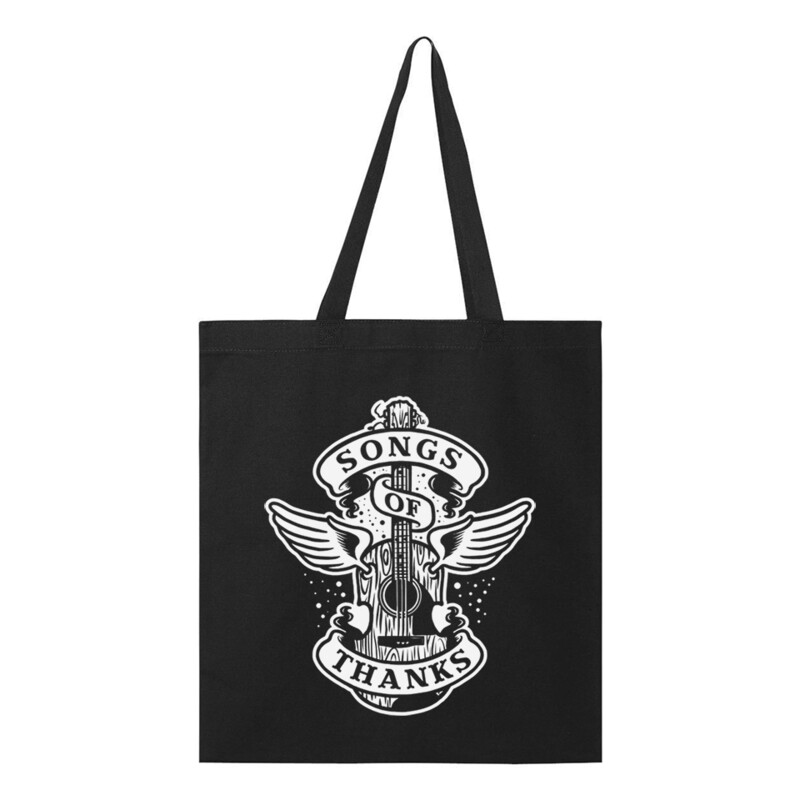 Songs of Thanks Black Tote