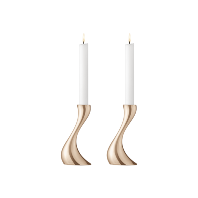 Cobra Candleholders - Rose Gold Small