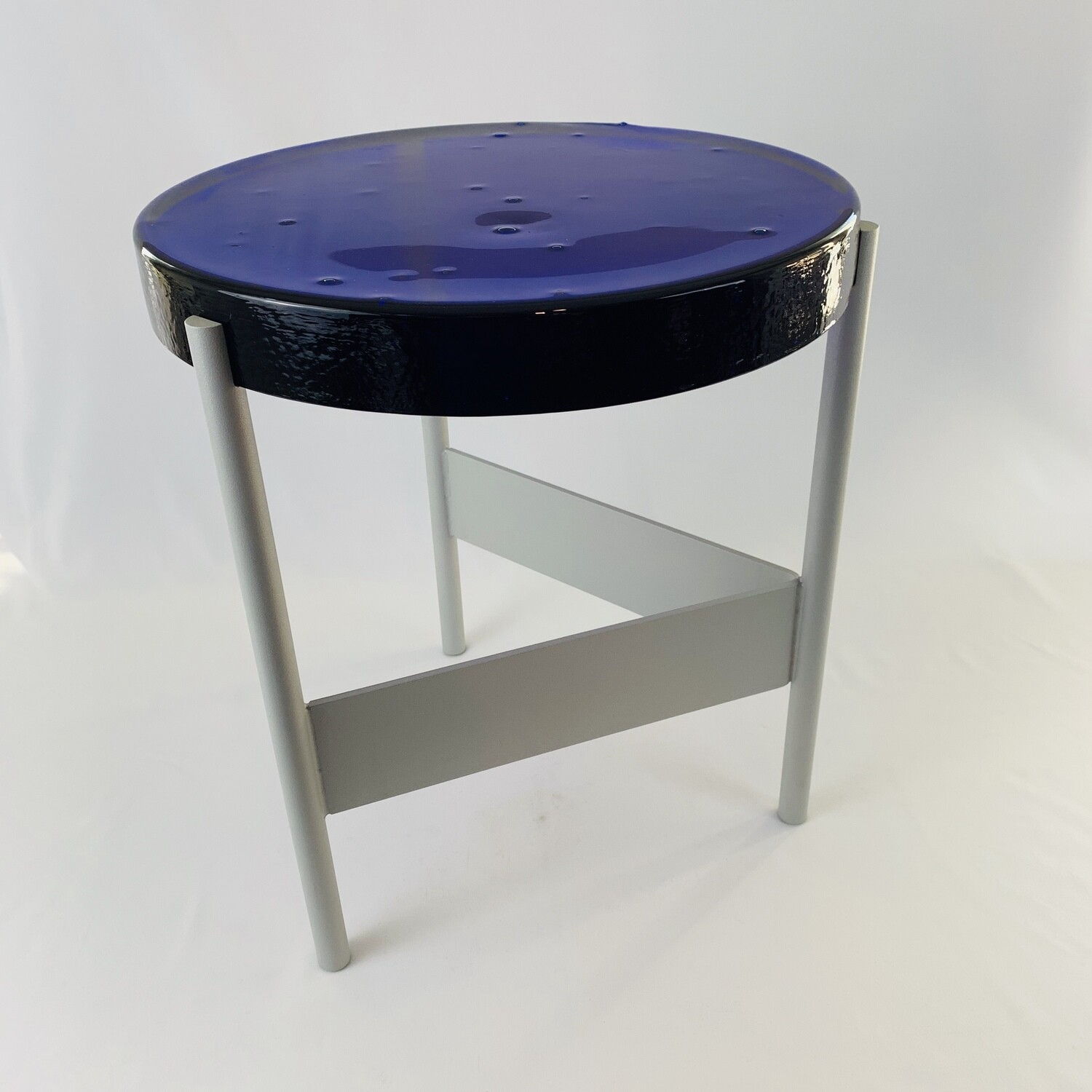 Alwa Two Table - Cobalt/Silver