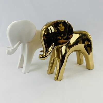 Ceramic Elephant (2 Colors Available)