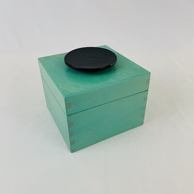 Large Decorative Box With Black Disc