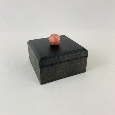 Small Decorative Box With Rose Knob