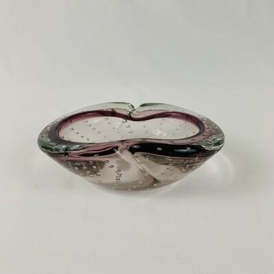 Murano Glass Mid-Century Hand Blown Bowl - Amethyst