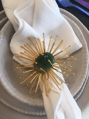 Star Napkin Ring Green