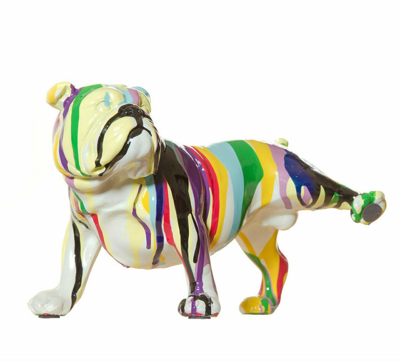 "Graffiti Bull Dog with Leg Up - 10"" long"