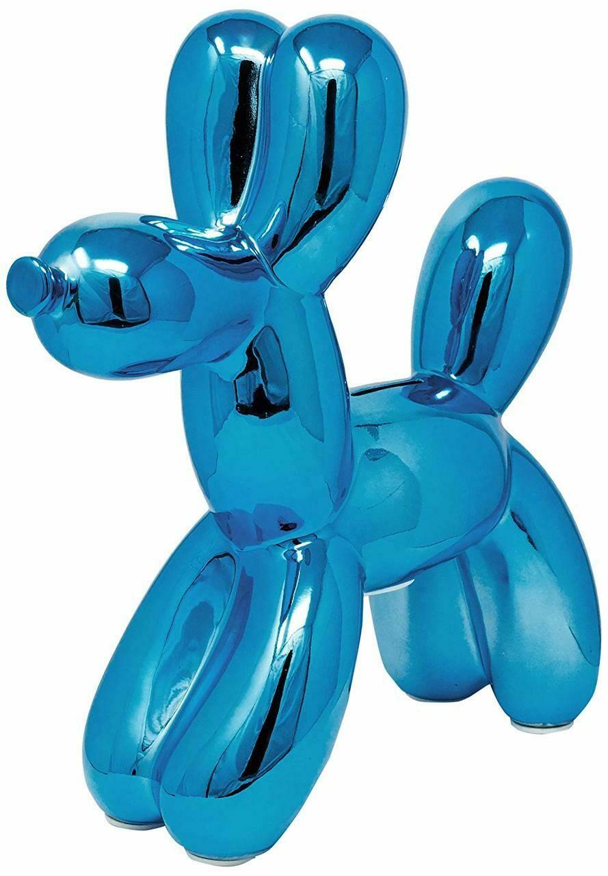 """Royal Blue Balloon Dog Bank - 12"""" tall"""