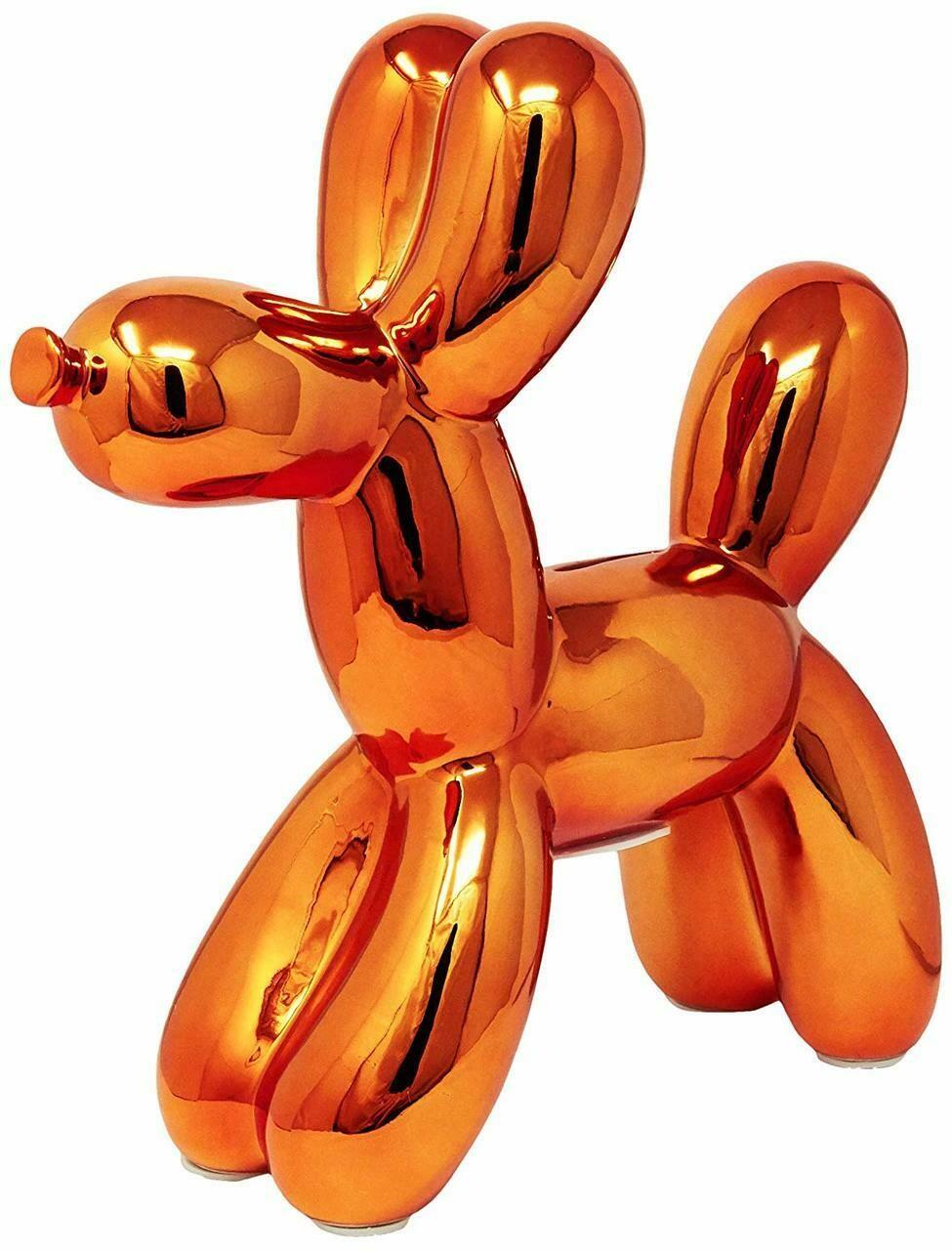 "Copper Balloon Dog Bank - 12"" tall"