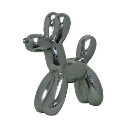 Graphite Balloon Dog Bank - 12