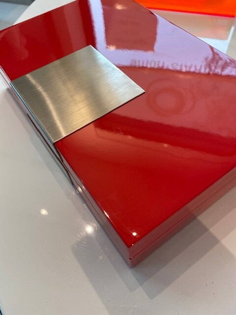RED Lacquer Jewelry Box