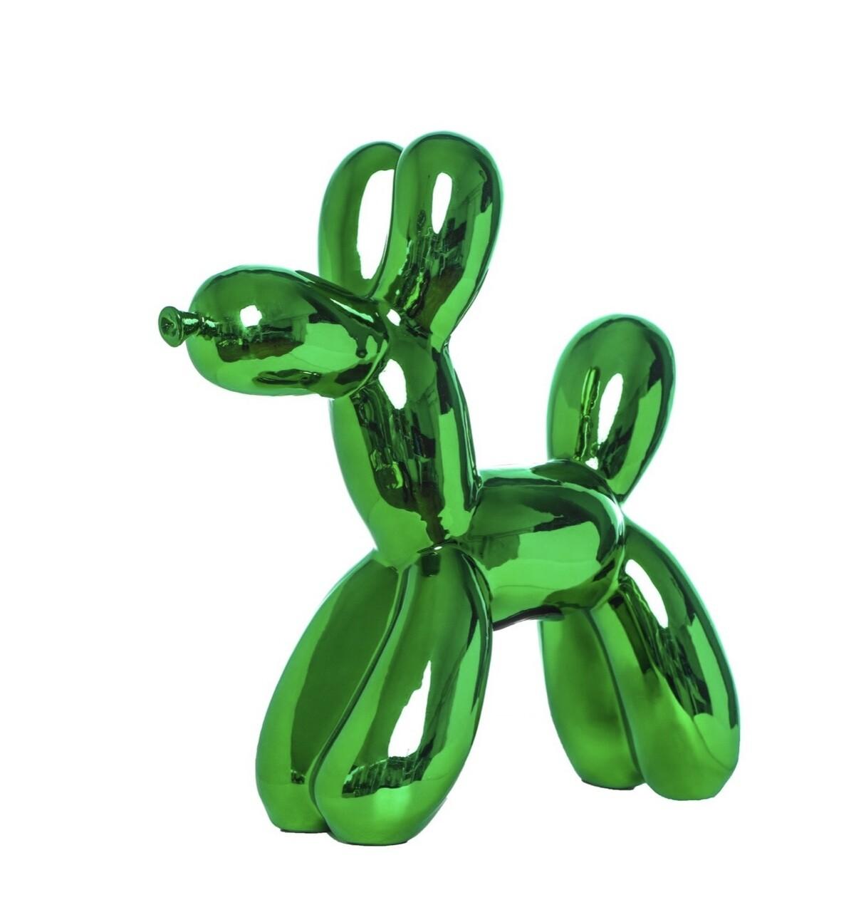 """Green Balloon Dog Bank - 12"""" tall"""
