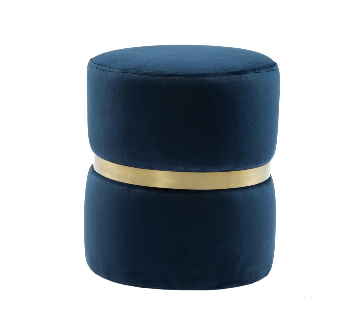 Velvet Blue Stool