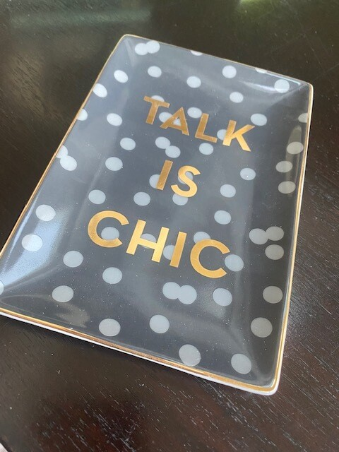 Talk is Chic - tray