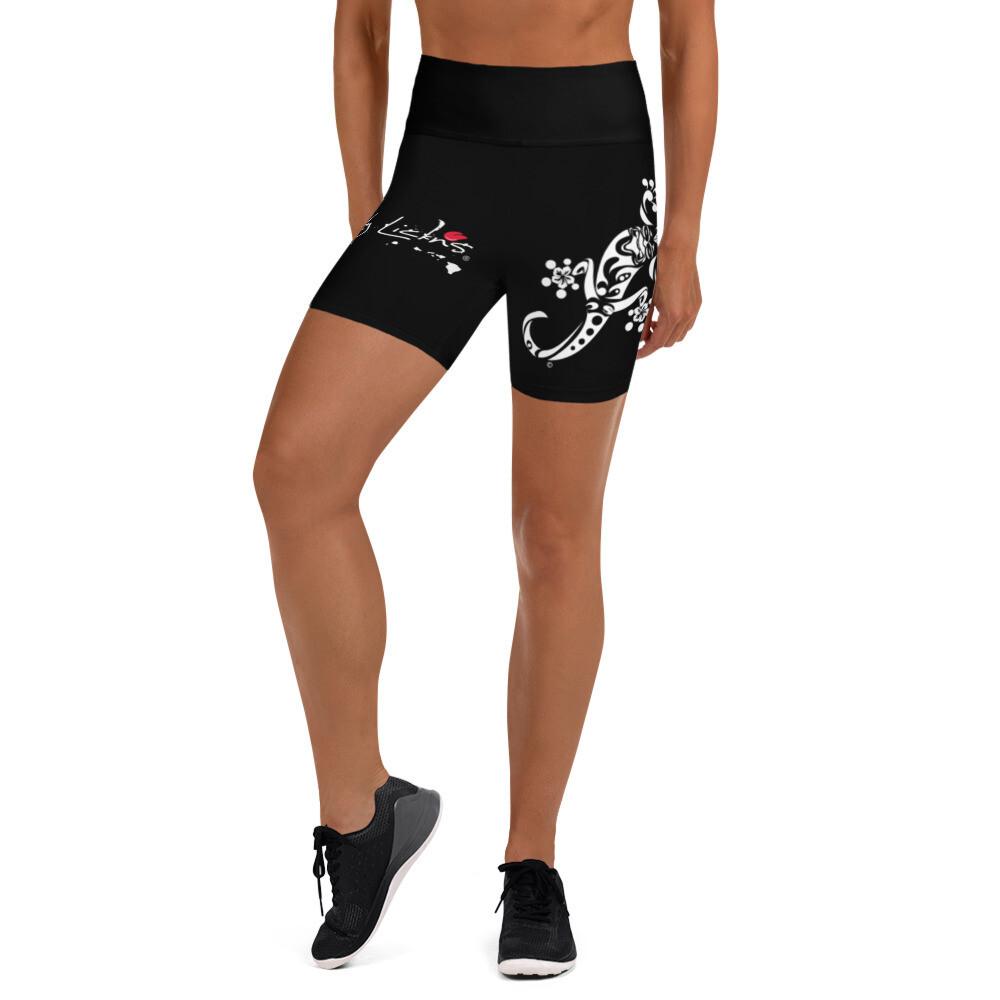 Dirty Lickins® Gekko Yoga Shorts inside pocket black