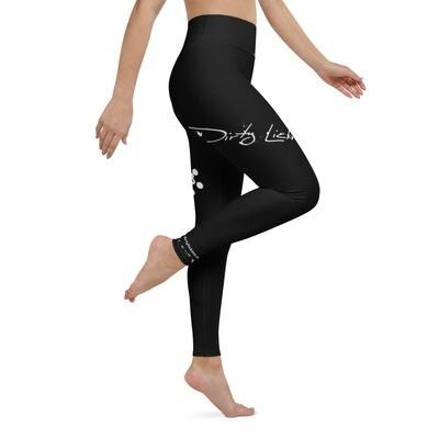 Dirty Lickins® Gekko Yoga Leggings inside pocket black
