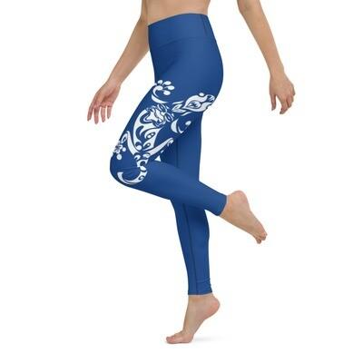 Dirty Lickins®  Gekko Yoga Leggings inside pocket blue