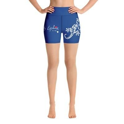 Dirty Lickins® Gekko Yoga Shorts inside pocket blue