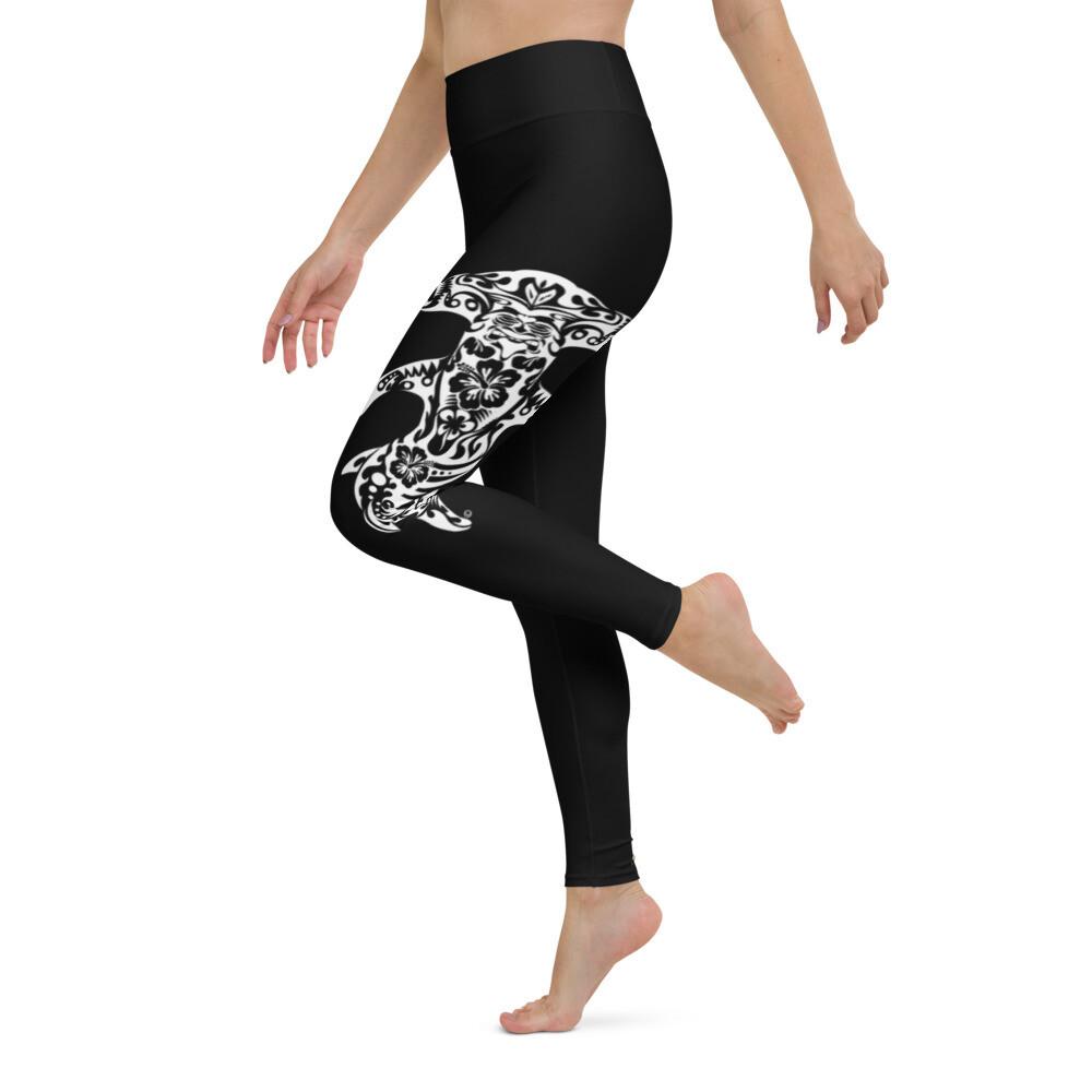 Dirty Lickins® Hammerhead Black Yoga Leggings w/ pocket