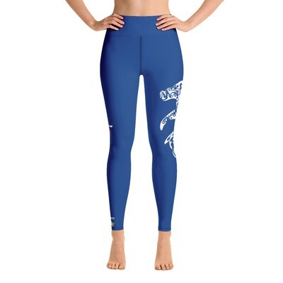 Dirty Lickins®  Hammer Head Blue Yoga Leggings w/ pocket