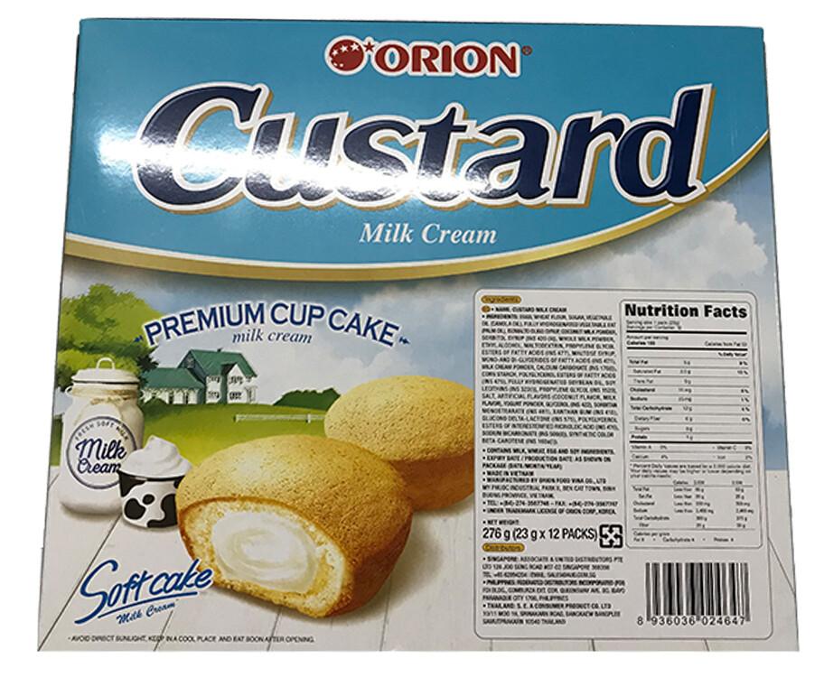 Orion Custard Softcake Milk Cream (12 Packs x 23g)
