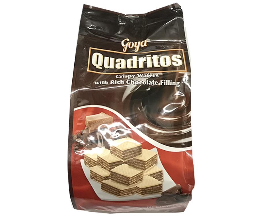 Goya Quadritos Crispy Wafers with Rich Chocolate Filling 125g