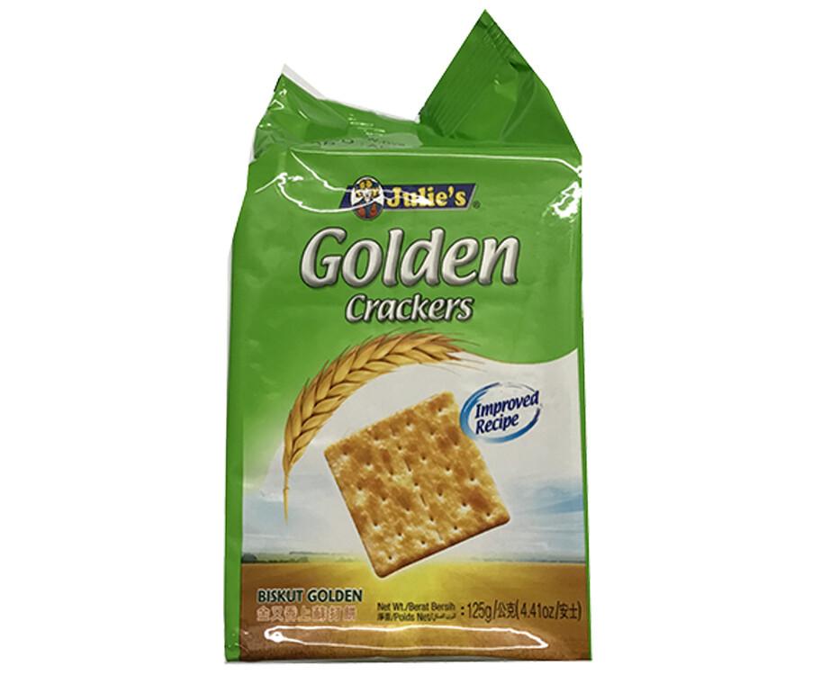 Julie's Golden Crackers 125g