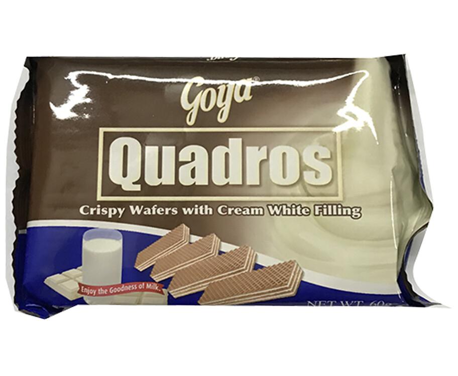 Goya Quadros Crispy Wafers with Cream White Filling 60g