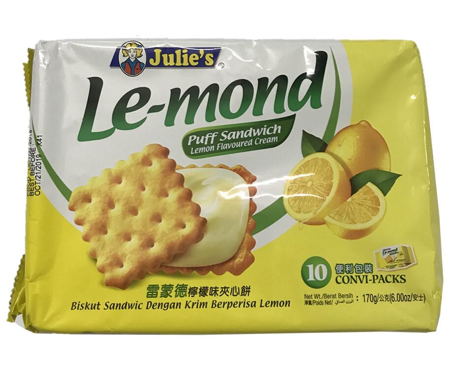 Julie's Le-mond Puff Sandwich Lemon Flavoured Cream 170g