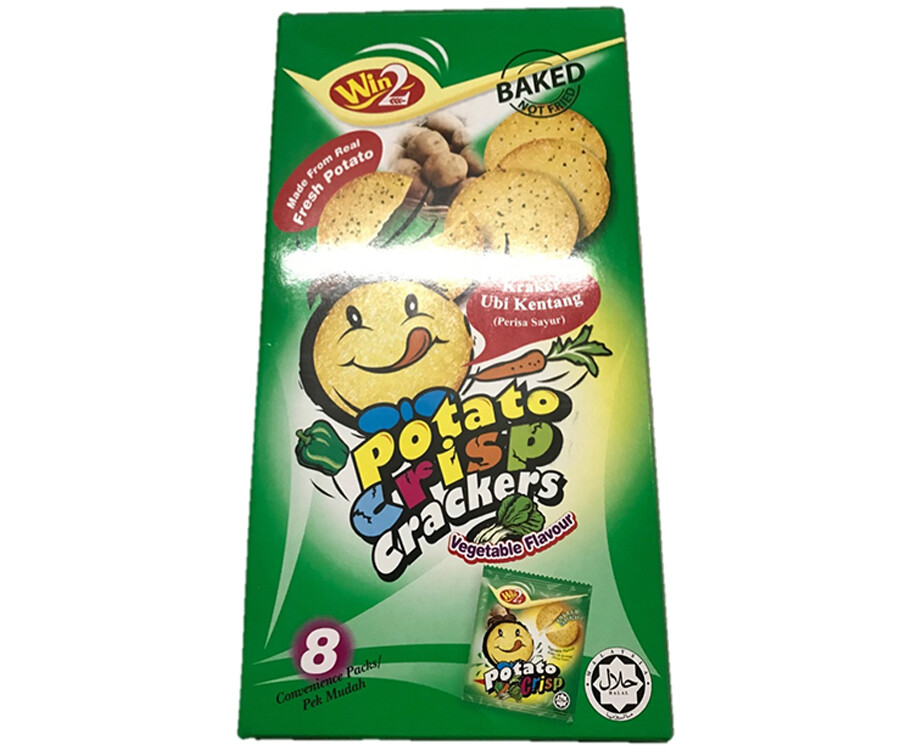 Win2 Potato Crisp Crackers Vegetable Flavour 160g