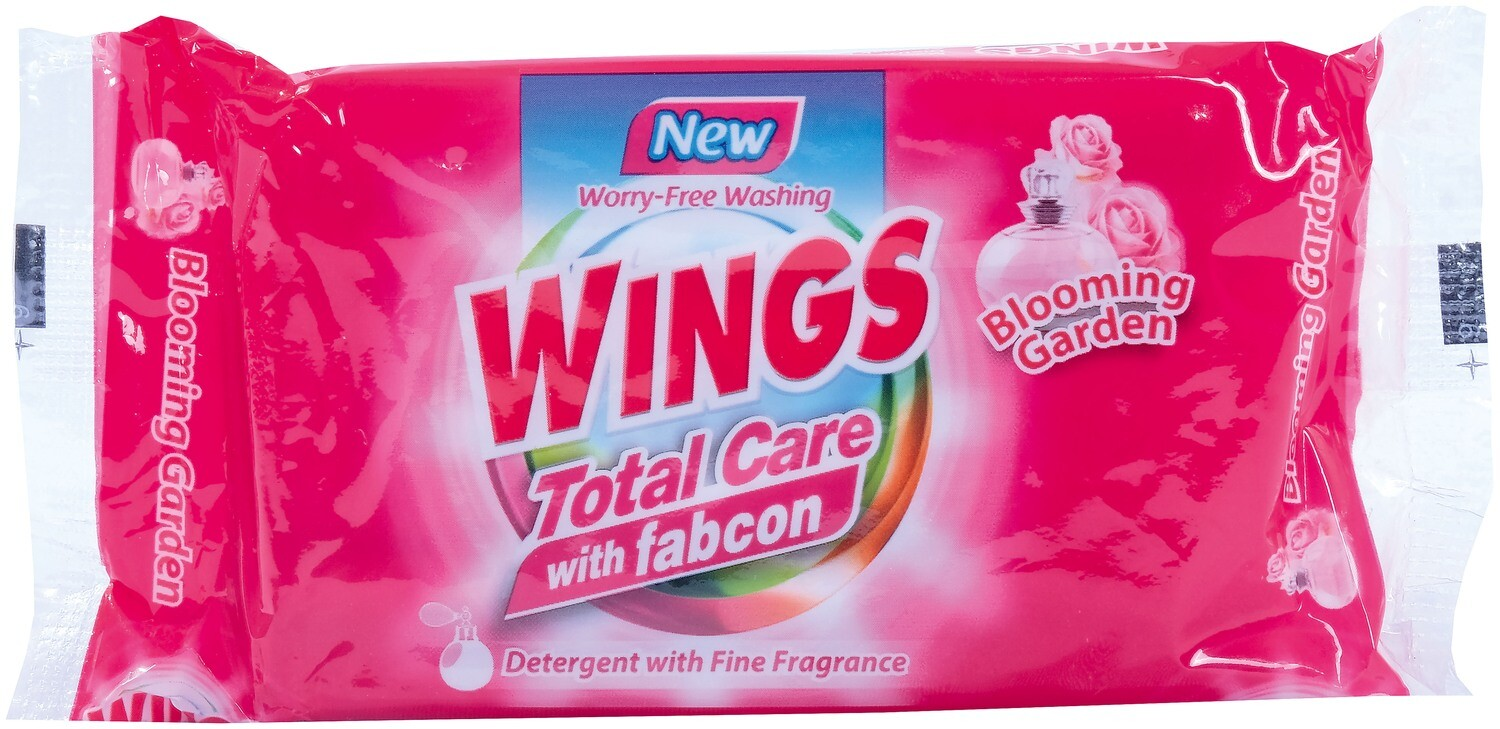 Wings Bar Total Care with Fabcon Blooming Garden 130g