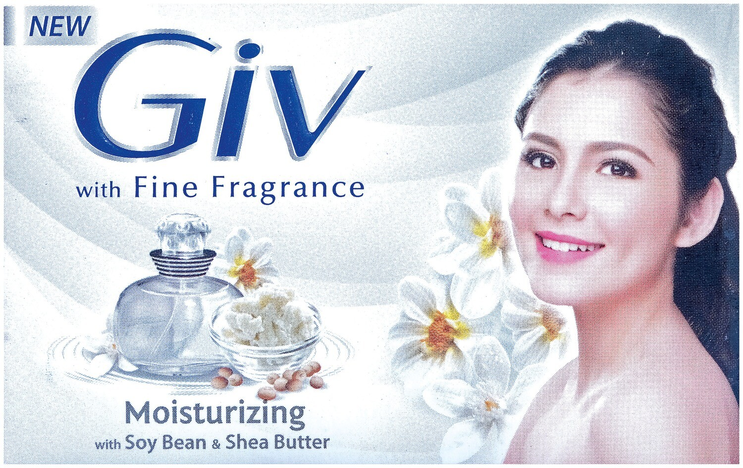 GIV with Fine Fragrance Moisturizing with Soy Bean & Shea Butter 76g