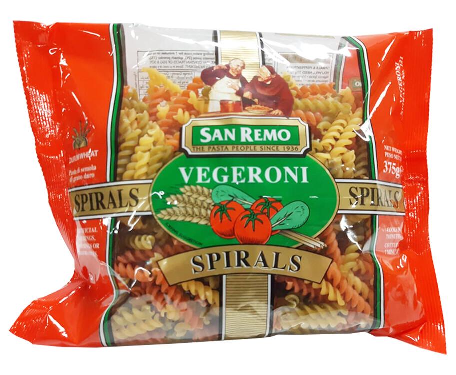 San Remo Vegeroni Spirals 375g