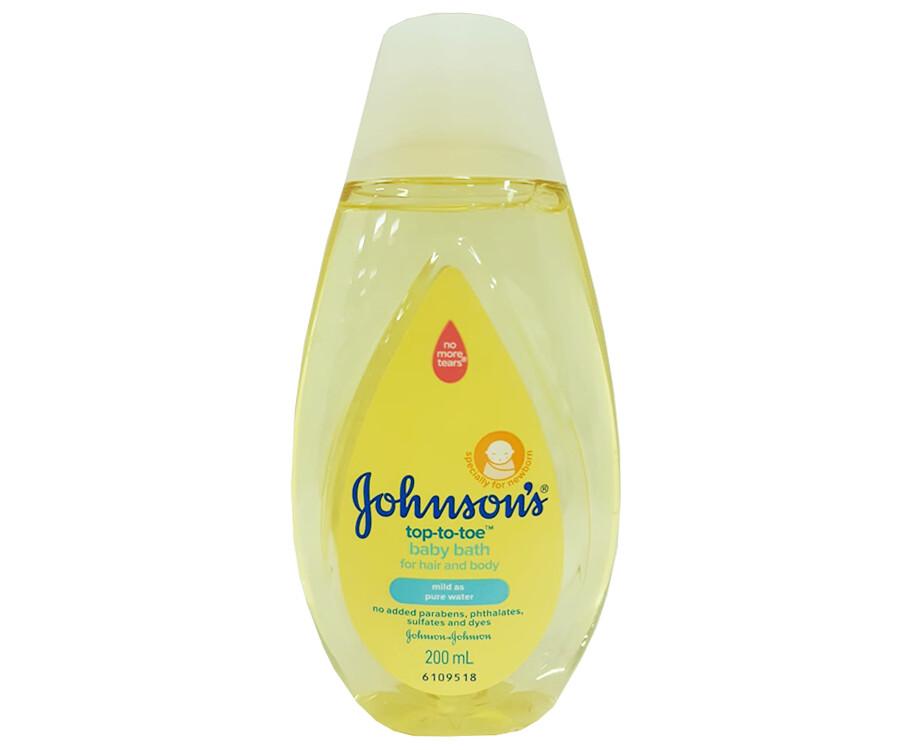 Johnson's Top-To-Toe Baby Bath For Hair & Body 200mL