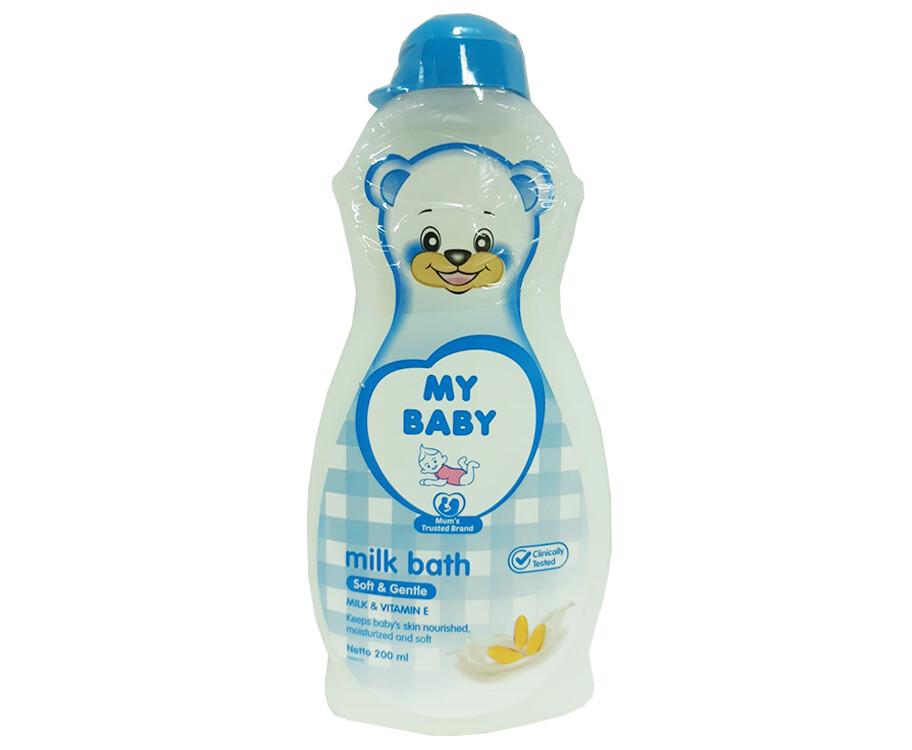 My Baby Milk Bath Soft & Gentle Milk & Vitamin E 200mL
