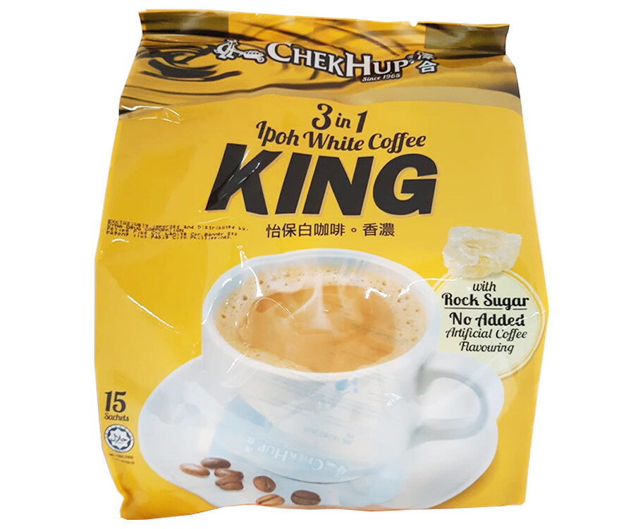 Chek Hup 3-in-1 Ipoh White Coffee King with Rock Sugar 15 Sachets