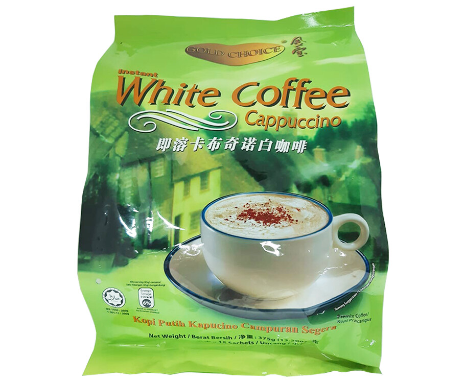 Gold Choice Instant White Coffee Cappuccino 375g