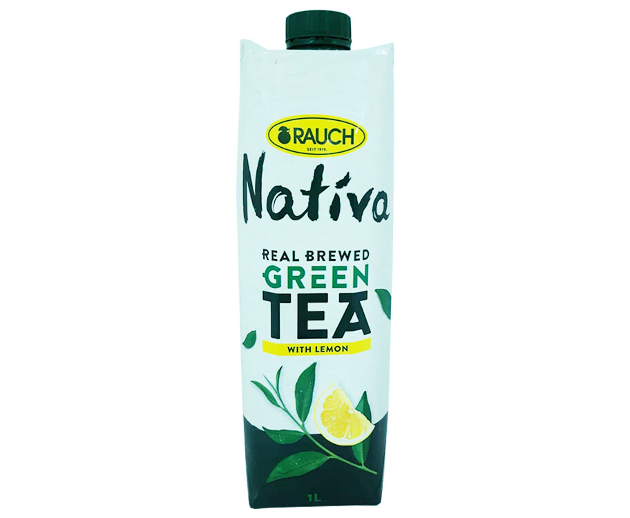 Rauch Nativa Real Brewed Green Tea with Lemon 1L