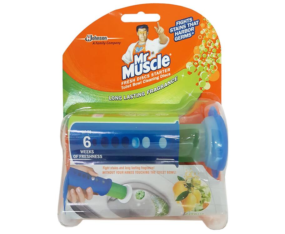 Mr. Muscle Fresh Discs Starter Toilet Bowl Cleaning Discs Citrus 38g
