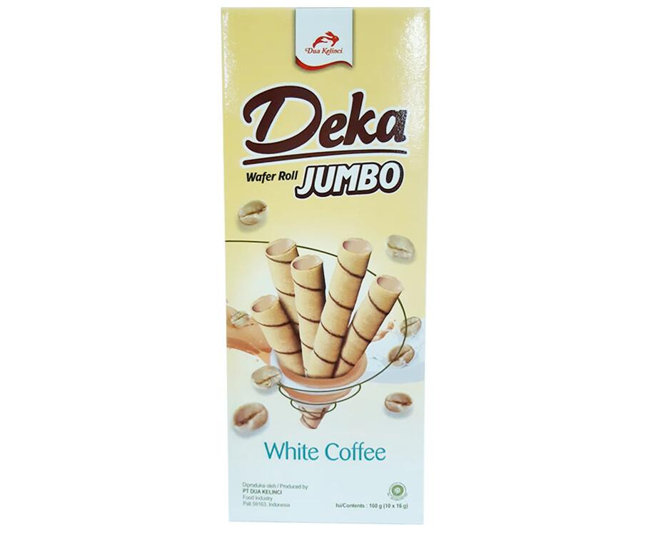 Deka Wafer Roll Jumbo White Coffee (10 Packs x 16g)