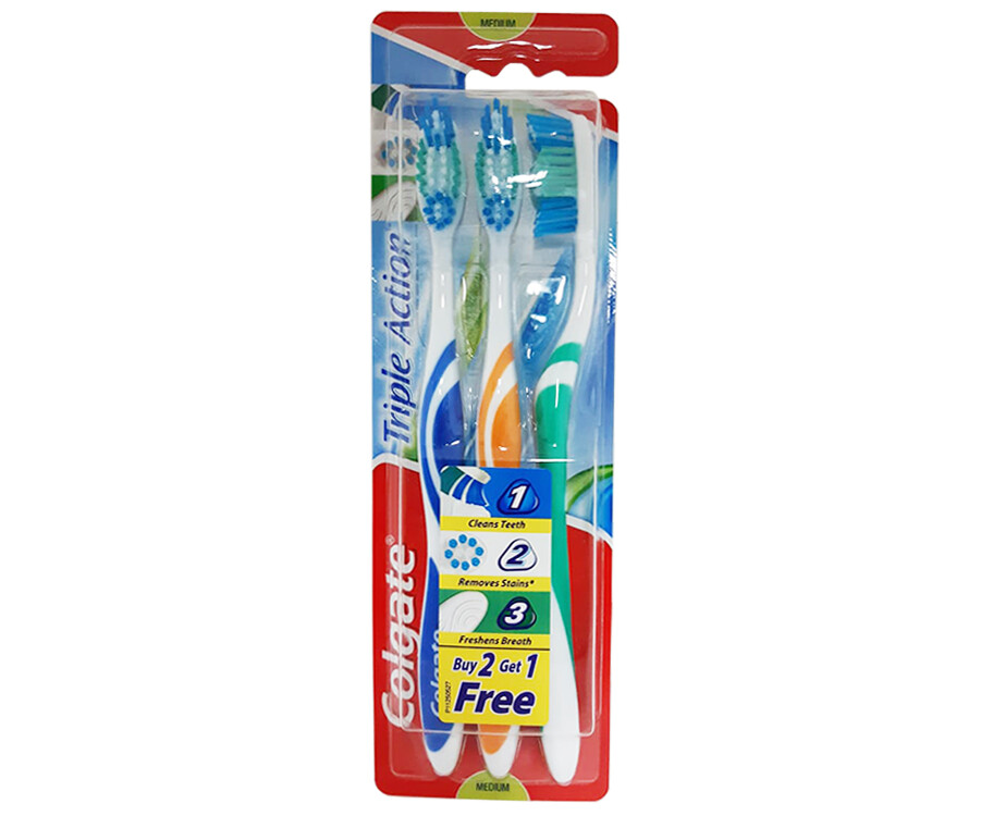 Colgate Triple Action Toothbrush Buy 2, Get 1 Free