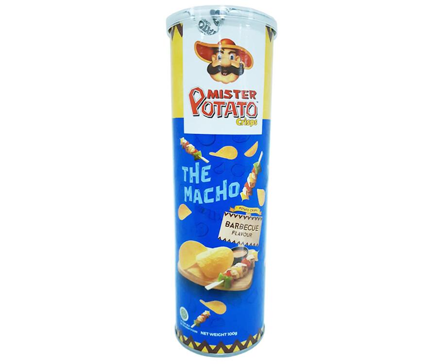 Mister Potato Crisps The Macho Barbecue Flavour 100g