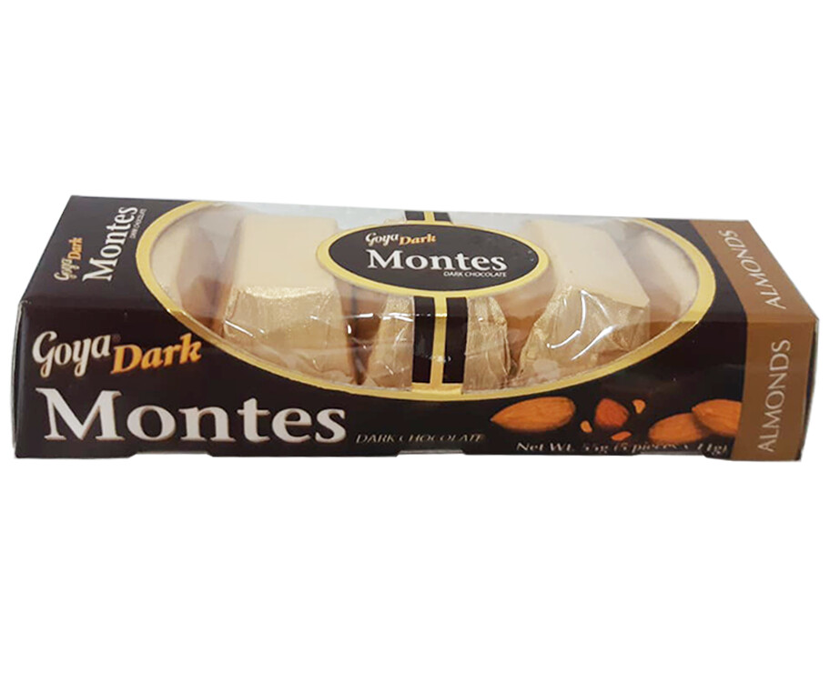 Goya Dark Montes Dark Chocolate Almonds (5 Packs x 11g)