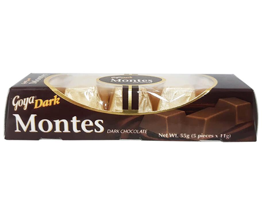 Goya Dark Montes Dark Chocolate (5 Packs x 11g)