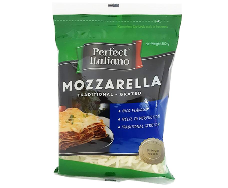 Perfect Italiano Mozzarella Traditional - Grated 250g