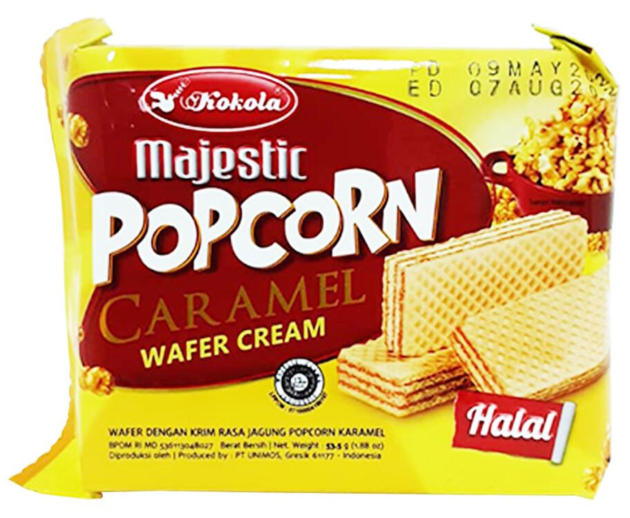 Kokola Majestic Popcorn Caramel Wafer Cream 53.5g