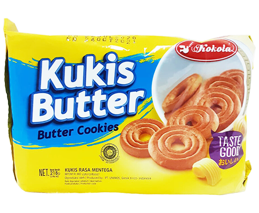 Kokola Kukis Butter Cookies 218g