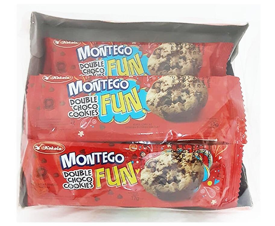 Kokola Montego Fun Double Choco Cookies (12 Packs x 17g)
