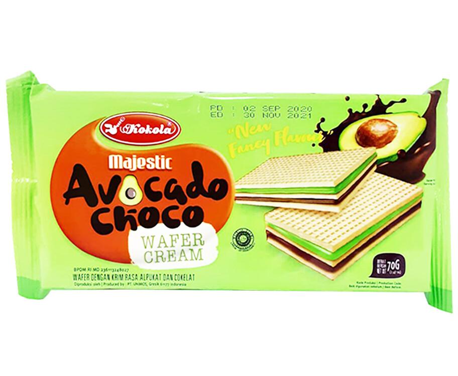 Kokola Majestic Avocado Choco Wafer Cream 70g