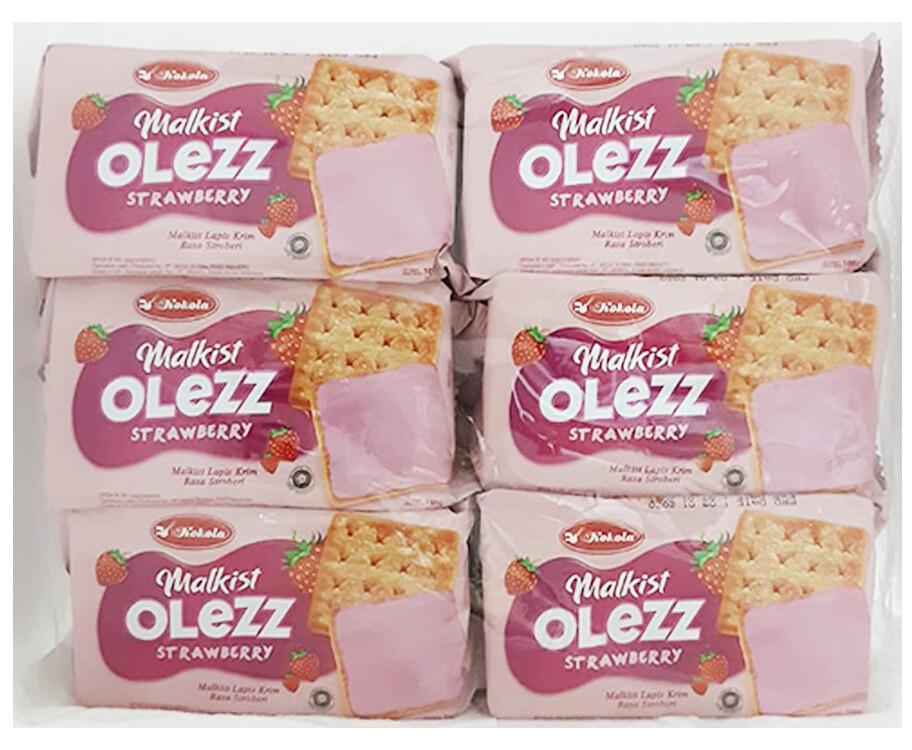Kokola Malkist Olezz Strawberry (6 Packs x 100g)