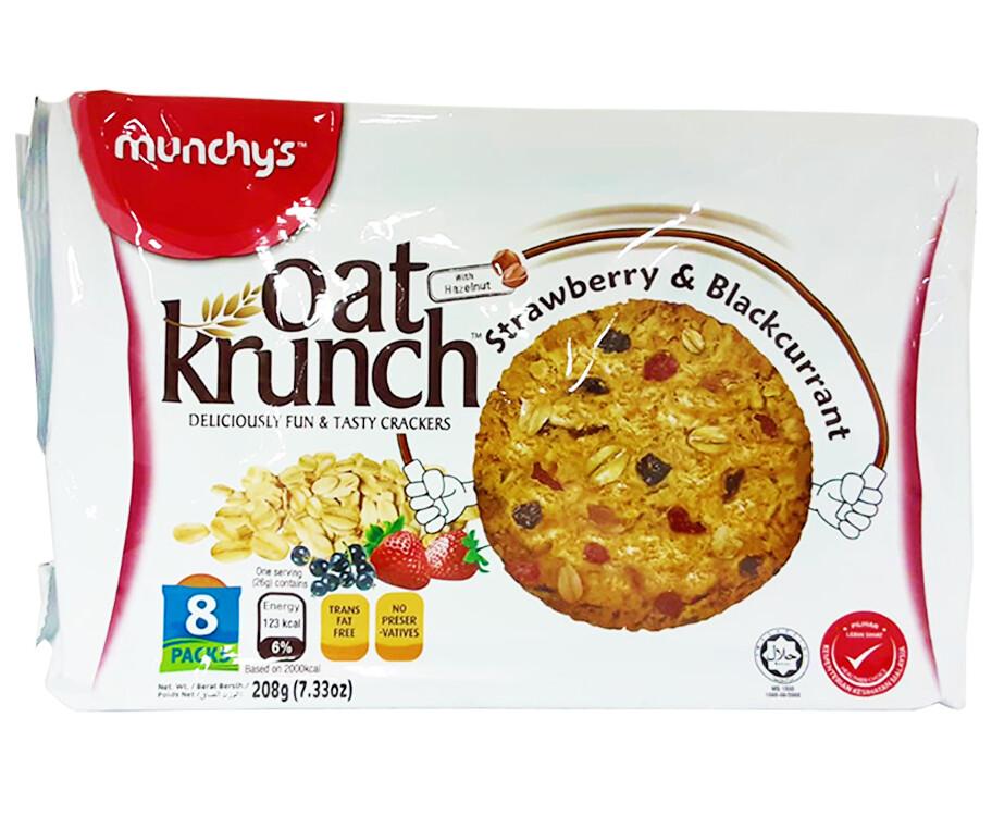 Munchy's Oat Krunch Strawberry & Blackcurrant With Hazelnut 208g